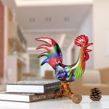best and cheap multicolored tooarts colorful rooster glass