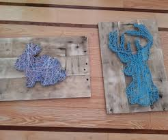 nail string art using reclaimed wood 4 steps