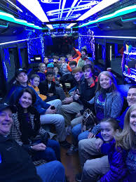 party bus outside 20 24 passenger party bus charlotte nc silverfox limos