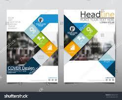 blue annual report brochure flyer design stock vector 398925199