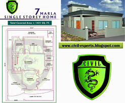 10 marla home front design civil experts 7 marla house plans
