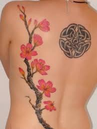popular 3d cherry blossom tree on back truetattoos