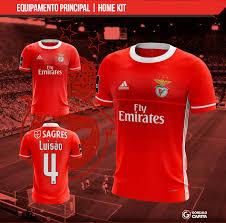 Design A Kit Home Football Kit Design Concept Sport Lisboa E Benfica Design Sports