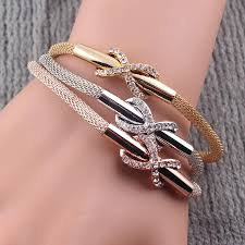 crystal snake bracelet images Multilayer infinity snake chain bracelet with rhinestone www jpg