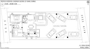 large 2 bedroom house plans modern long narrow house design and covered parking for 6 cars