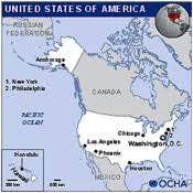 the united states of america and neighbouring countries map united states of america americas countries regions