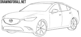 mazda car line how to draw a mazda 6 drawingforall net