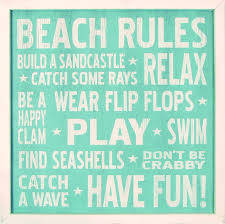 beach signs home decor country marketplace vintage beach rules wood sign 18