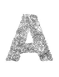 free coloring page letter a