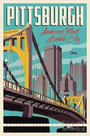 travel posters images Vintage style pittsburgh travel poster digital art by jim zahniser jpg