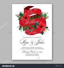 Wedding Invitation Sample Cards Poinsettia Wedding Invitation Sample Card Beautiful Winter Floral