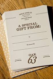gift voucher on 700 micron board letterpresses board and gift