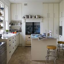 modern retro kitchen an aga stove sits at the heart of the kitchen
