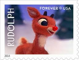 u0027s beat rudolph all red nosed over stamp approval