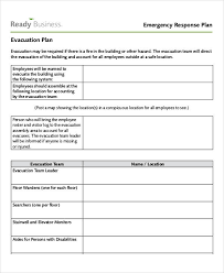Evacuation Floor Plan Template Emergency Response Plan Template Latrobe City Council On