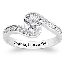 engagement ring engravings sterling silver genuine white topaz diamond engraved promise