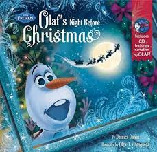 frozen olaf u0027s night christmas book u0026 cd disney book group