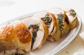 turkey breast recipes for thanksgiving chard and prosciutto stuffed turkey breast recipe simplyrecipes com