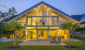 Hausbau Inklusive Grundst K Fachwerk Fertighaus Modern Holzskeletthaus Moderne Fachwerkhäuser
