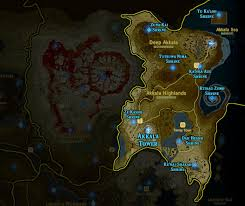 Xenoblade Chronicles Map Zelda Breath Of The Wild Shrine Maps And Locations