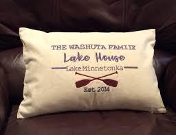 lake house pillow beach house pillow family name pillow