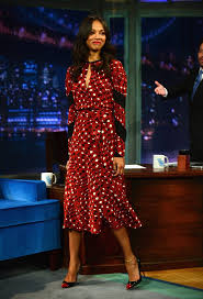 dvf wrap dress zoe saldana in a dvf wrap dress dvf is dressing the statue of