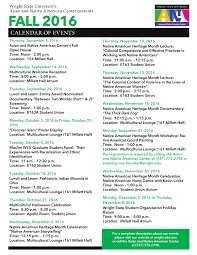 calendar of events wright state