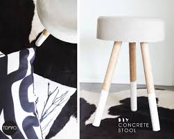 How To Make A Concrete Table by Diy Concrete Stool Bedside Table Tomfo Tomfo