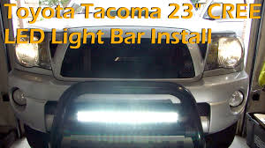 toyota tacoma light bar roof mount toyota tacoma 23 cree led light bar install auxbeam 5d youtube