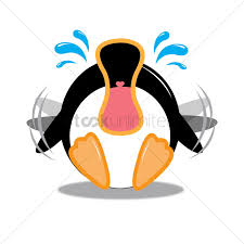 penguin crying out loud vector image 1424160 stockunlimited