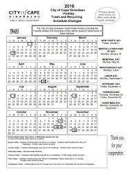 view save print 2016 trash and recycling schedule city
