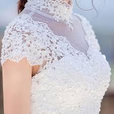 wedding dress sales it s yiiya white sales sleeve high neck wedding dresses