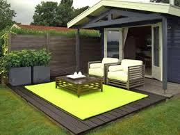 Outdoor Patio Rug Average Size Outdoor Patio Rug In Bright Green Phosphor Color