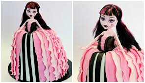 All Monster High Halloween Costumes Draculaura Monster High Doll Cake Cake Style Youtube