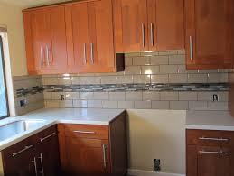 kitchen backsplash subway tile with accent home design ideas