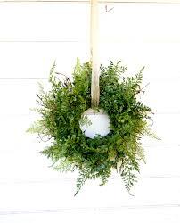 mini window wreath mini fern wreath country cottage wreath fern