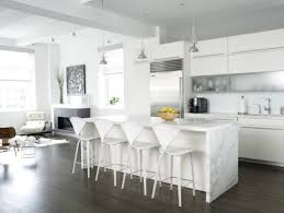 Light Blue Cabinets White Kitchen Island With Seating Nice Gray Accent Walls Color