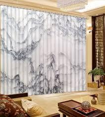 rideau de chambre peint à la montagne rideaux pour chambre impression 3d rideau