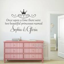 Nursery Name Wall Decals by Online Shop Custom Twins Name Wall Sticker Girls Name Wall Art