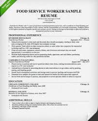 food service resume samples hitecauto us