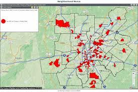 Metro Atlanta Map Poverty In Metro Atlanta U0027s Suburbs Growing Faster Than In The City