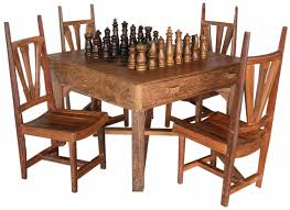 Chess Table by Rustic Pool Tables Country Western Pool Tables Game Tables