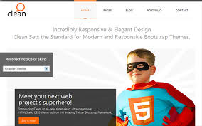 clean twitter bootstrap business u0026 portfolio theme