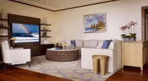 hawaiian room decor square varnished wood coffee table green wall
