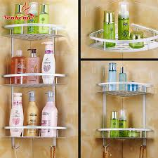 online buy wholesale aluminium bathroom accessories from china hot sale space aluminum bathroom shelf two layer wall mounted shower shampoo soap cosmetic bathroom shelves