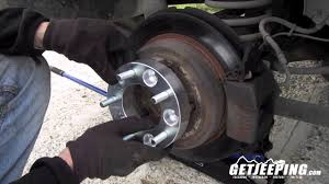 99 jeep wheels how to install wheel spacer or adapters getjeeping