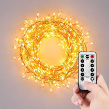 Fairy Lights Indoor by Homestarry Cluster String Lights 10ft 300leds With Dimmable Remote