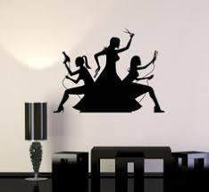 wall decals decor art mural sticker hairs head bedroom