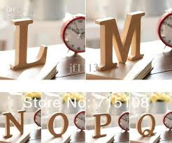 wooden letters home decor wooden letter home decoration free standing alphabet a z party decor