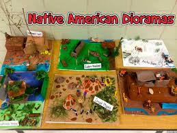 4th grade indian tribe diorama social studies project